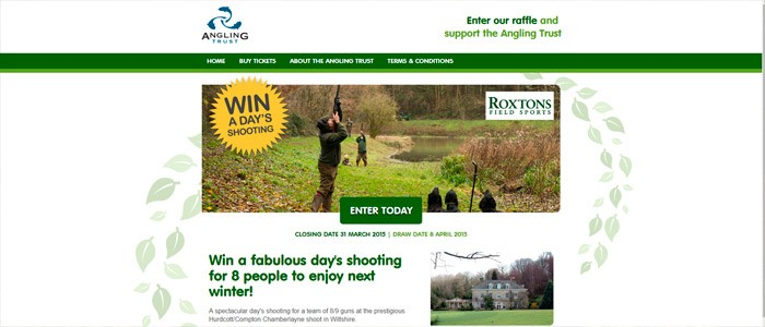 Win a day's shooting and raise money for the Angling Trust