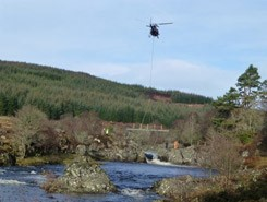 New bridge at Gordonbush for the Balnacoil falls