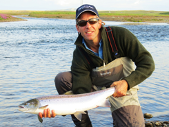 39 fish in three days to two rods in Iceland
