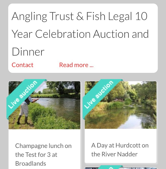 Angling Trust and Fish Legal 10 Year Celebration Auction and Dinner