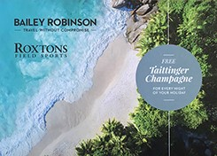 Bailey Robinson's exclusive offer with Taittinger champagne